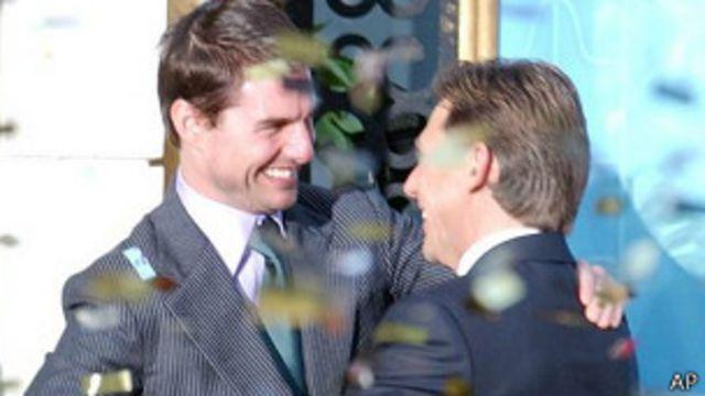 Tom Cruise y David Miscavige