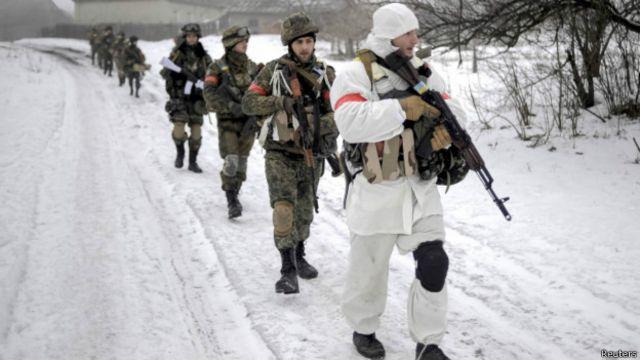 Українські вояки в зоні АТО