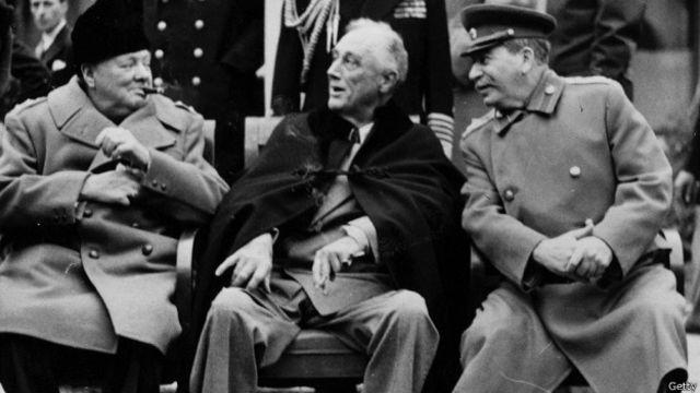 """""""Большая тройка"""" в Ялте, февраль 1945 года"""