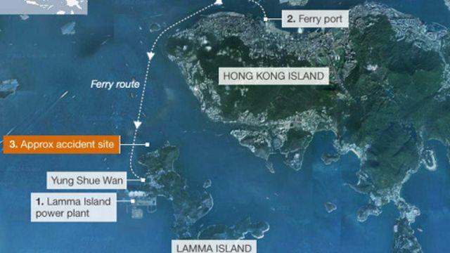 Tabrakan yang melibatkan dua kapal penumpang itu terjadi di perairan sekitar Pulau Lamma, Hong Kong, awal Oktober 2012 lalu.