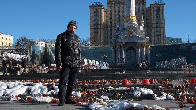Павло Шехтман у Києві на майдані Незалежності