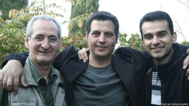 از چپ به راست: آندرانیک، پرویز رحمان پناه، پژمان اکبرزاده، لس آنجلس، بهار ۲۰۰۸