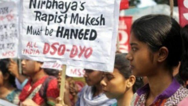 नई दिल्ली में बलात्कार के खिलाफ प्रदर्शन.