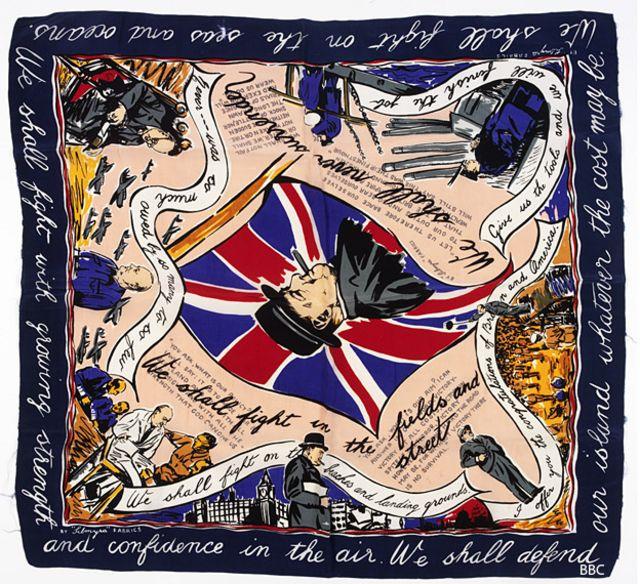 Pañoleta con estampado de Churchill