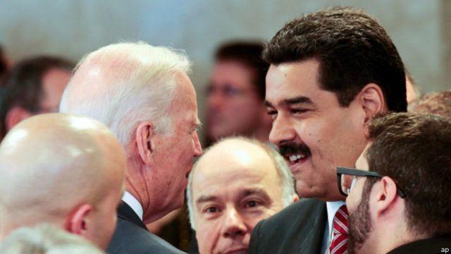 Biden y Maduro