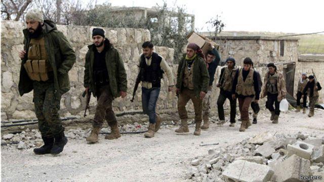شبه نظامیان مخالف حکومت در حلب