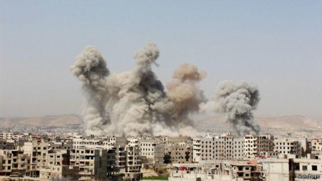 بمباران مناطق شهری