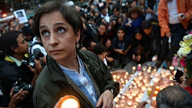 Cármen Aristegui es una de las periodistas más conocidas en México. Foto Getty Images.