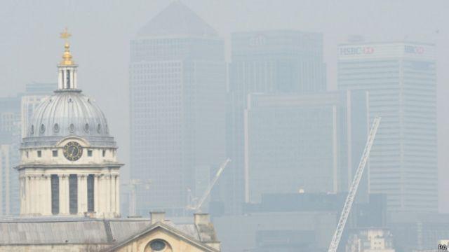 霧霾中的倫敦