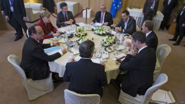 Лидеры ЕС на саммите в Брюсселе 19 марта 2015 г.
