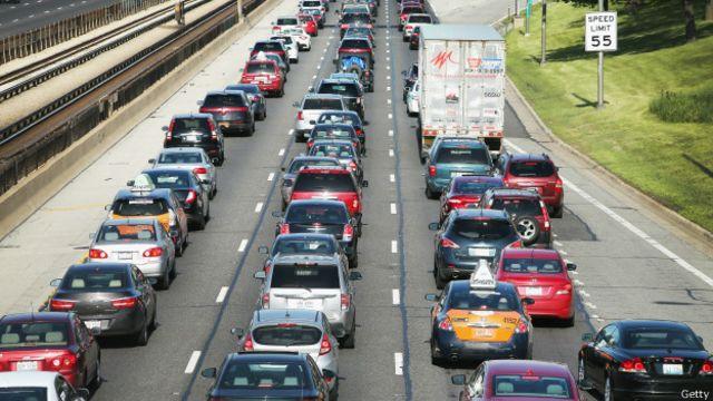 Un atasco en el tráfico