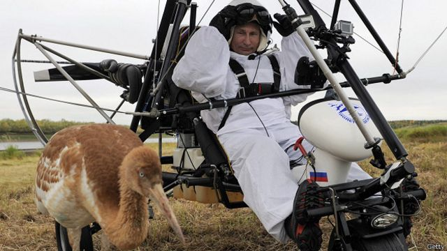 Путин со стерхом