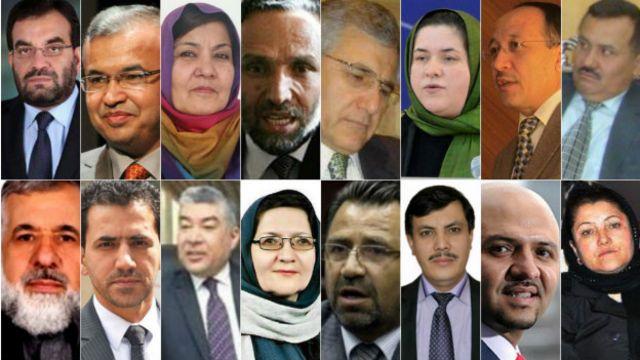 ۱۶ وزیر پیشنهادی دولت وحدت ملی افغانستان، دارای تحصیلات و تجارب کاری ذیل هستند.