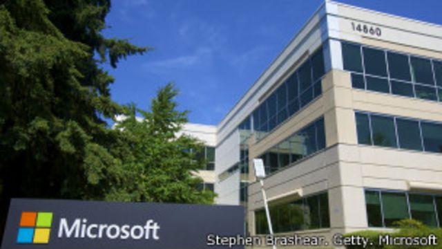 Uno de los edificios de la sede de Microsoft en Redmond, EE.UU.