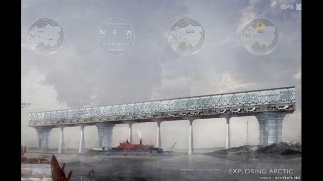 Николай Зайцев и Елизавета Лопатина из России представили проект нового порта в Арктике, который должен создать комфортные условия для работы и жизни на Северном морском пути.