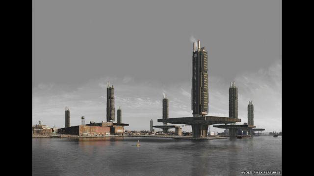Стюарт Битти из Великобритании представил проект с вертикальными заводами в Нью-Йорке. Автор изучает альтернативы неэффективной организации промзон.