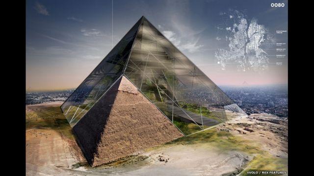 Проект Bio-Pyramid: Reversing Desertification - это больше, чем небоскреб. По сути это целая биосфера, которая также является воротами из Каира в пустыню Сахара.