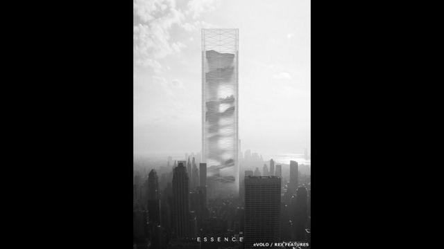 Объявлены победители конкурса проектов небоскребов. Первое место занял этот проект из Польши - Essence Skyscraper. Здание предлагается поделить на 11 секций, каждая из которых будет представлять одну из разновидностей природных ландшафтов.