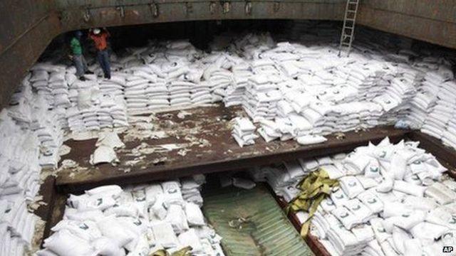 El armamento del Chong Chon Gang estaba escondido entre sacos de azúcar.