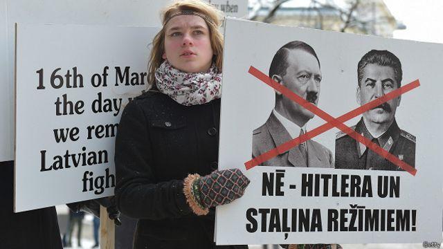 Латвияда нацизм ва коммунизм меросига қарши намойишлар кенг тус олган.