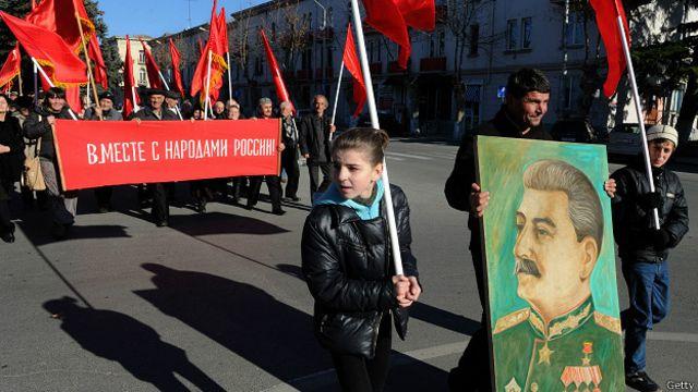 Горида Сталин тарафдорларининг намойиши.