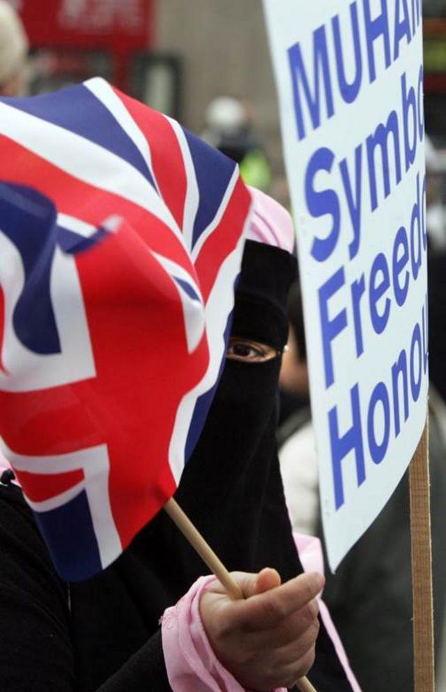 په لندن کې د مسلمانانو یوه مظاهره