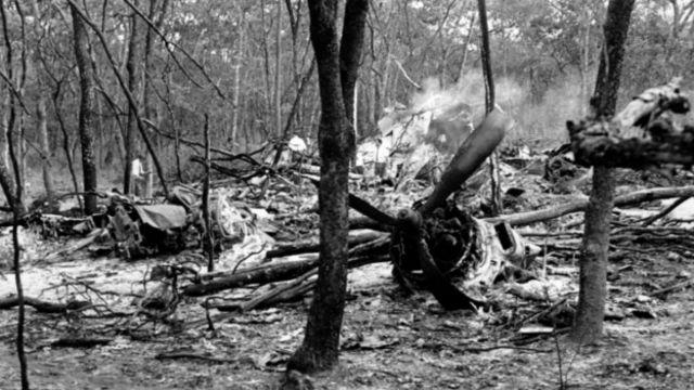 Место авиакатастрофы генерального секретаря ООН Дага Хаммаршельда