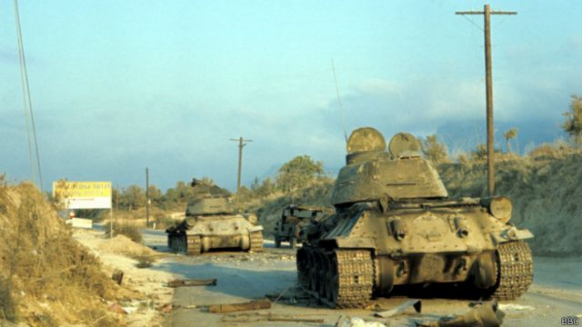 В 1974 году, после начала конфликта, танки греческих киприотов стали турецкими трофеями