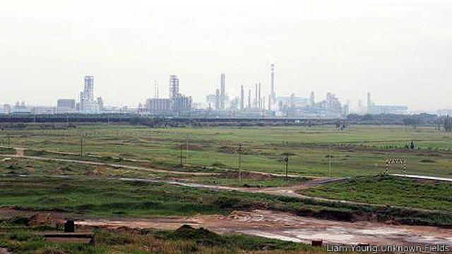 Окрестности Баотоу: индустриальный пейзаж