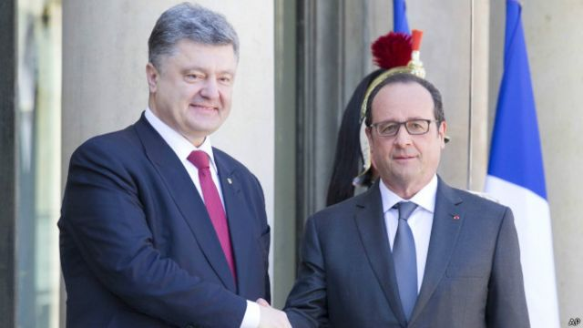 Франсуа Олланд та Петро Порошенко