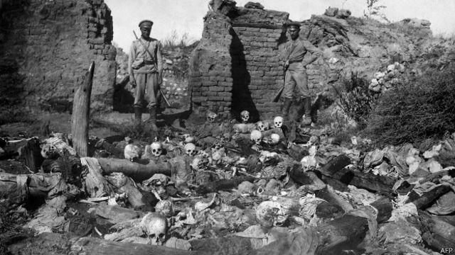 Массовое захоронение жертв резни