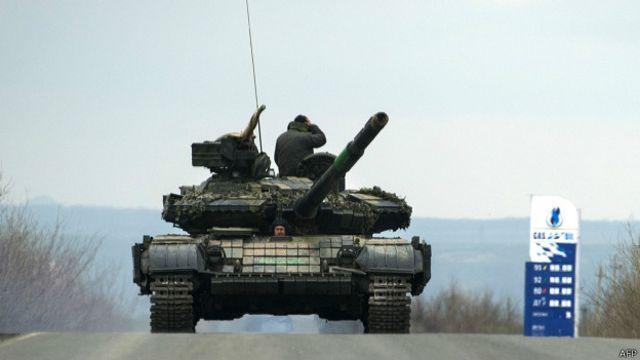 Танк сепаратистов на востоке Украины
