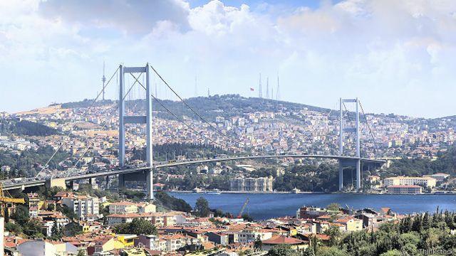 Стамбул, мост через Босфор