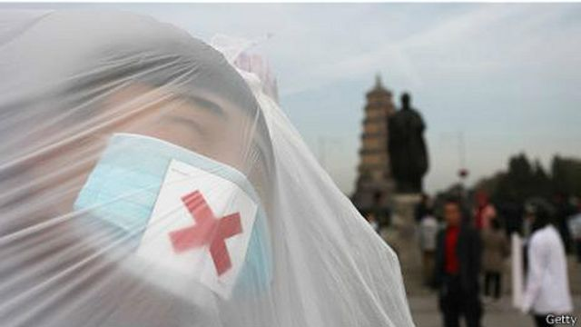 Протест против загрязнения воздуха в Шанхае