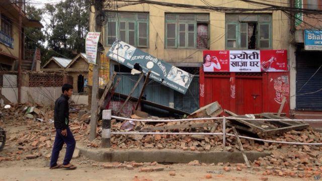 Разрушения в Катманду