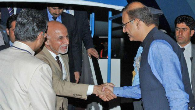 رئیس جمهوری افغانستان شام دیروز وارد هند شد