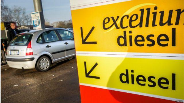 Estación de combustible en Francia