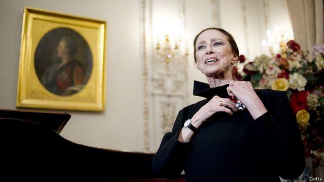Майя Плісецька після вручення французького Ордену Почесного легіону у 2012 році