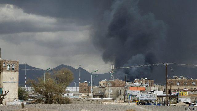 نحو 45 شخصا قتلوا في الغارات الأخيرة على الحوثيين.