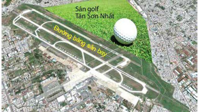 Sân golf gần sân bay Tân Sơn Nhất