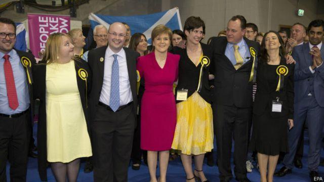 Лидеры Шотландской национальнйо партии