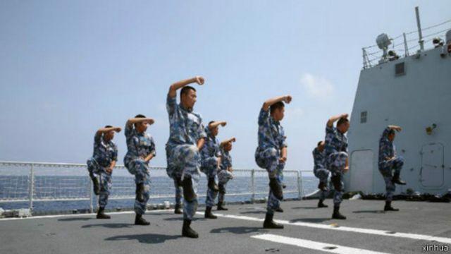 今年3月中國海軍護衛艦濰坊艦參加也門撤僑行動時在吉布提港停靠