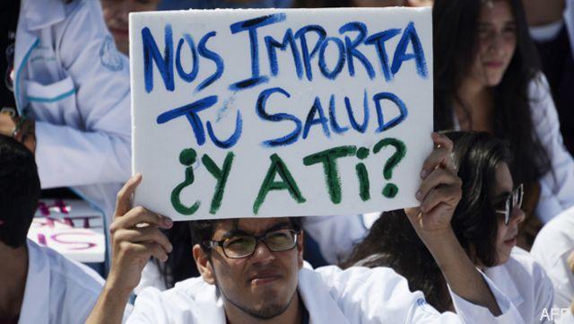 Médicos protestan en Venezuela