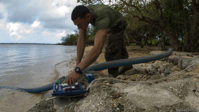 También llevarán equipamiento para hacer potable el agua.