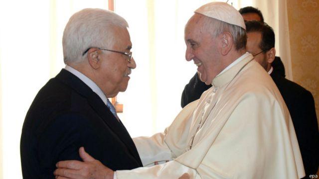 Mahmud Abbas con el papa Francisco