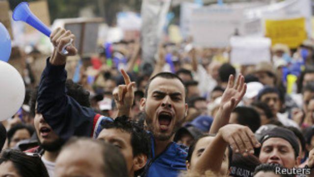 Manifestación en Guatemala