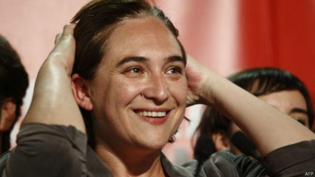 Colau, una activista antidesahucios, resultó la más votada en Barcelona.