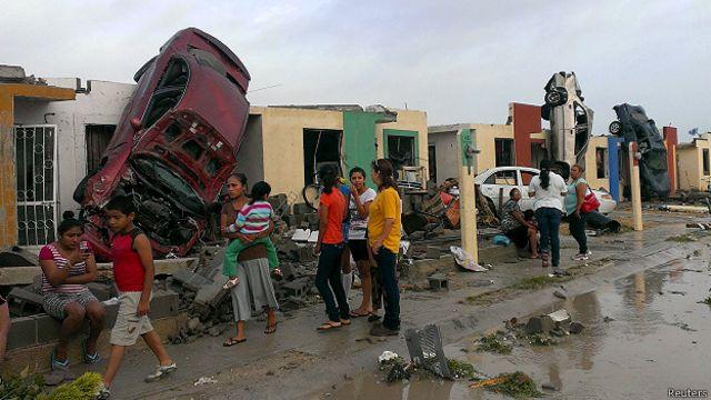 Tornado en Ciudad Acuña