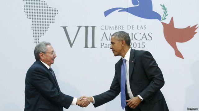 Кастро и обама