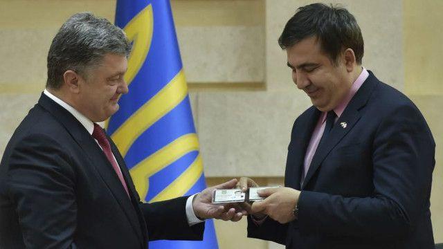 رئیس جمهوری اوکراین آقای ساکاشویلی را دوست بزرگ اوکراین خوانده است